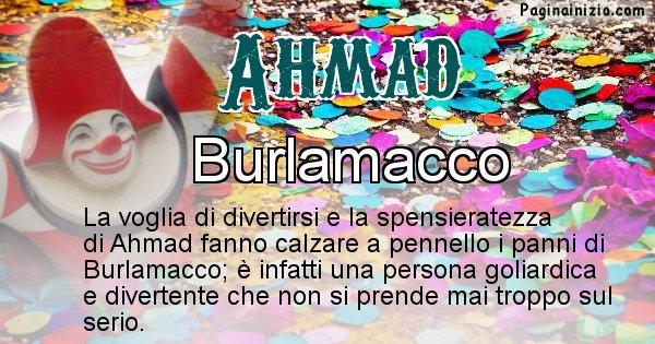 Ahmad - Maschera associata al nome Ahmad