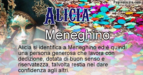 Alicia - Maschera associata al nome Alicia