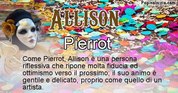 Allison - Maschera associata al nome Allison