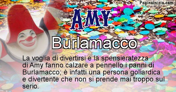 Amy - Maschera associata al nome Amy
