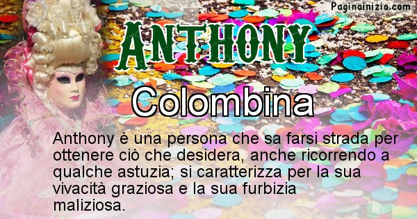 Anthony - Maschera associata al nome Anthony