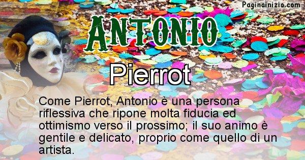 Antonio - Maschera associata al nome Antonio