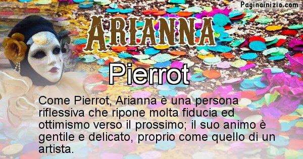 Arianna - Maschera associata al nome Arianna