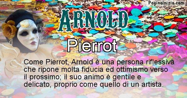 Arnold - Maschera associata al nome Arnold