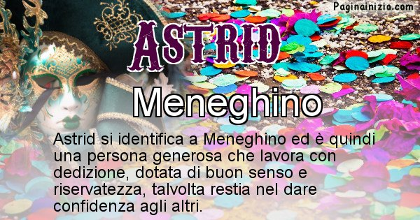 Astrid - Maschera associata al nome Astrid