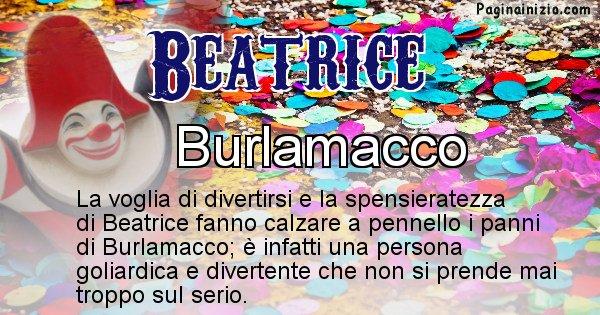 Beatrice - Maschera associata al nome Beatrice