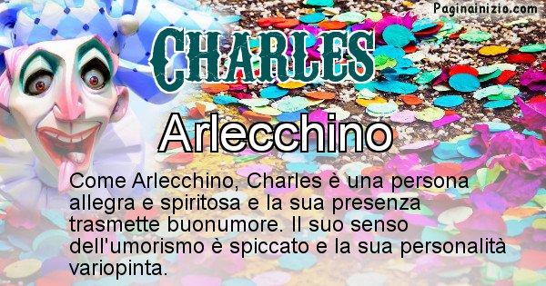 Charles - Maschera associata al nome Charles