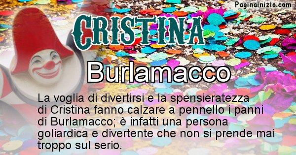 Cristina - Maschera associata al nome Cristina