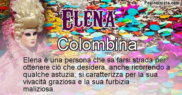 Elena - Maschera associata al nome Elena