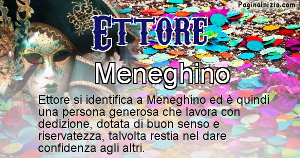Ettore - Maschera associata al nome Ettore