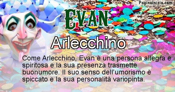 Evan - Maschera associata al nome Evan