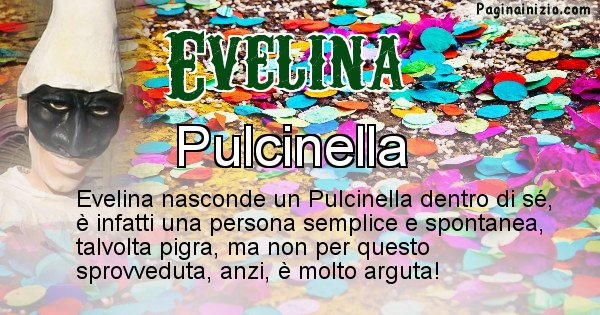 Evelina - Maschera associata al nome Evelina