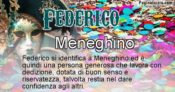 Federico - Maschera associata al nome Federico