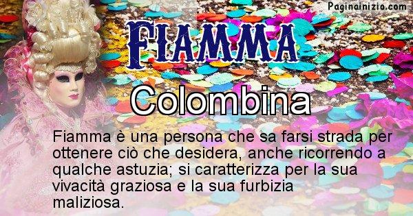 Fiamma - Maschera associata al nome Fiamma