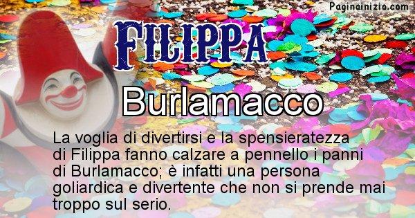 Filippa - Maschera associata al nome Filippa
