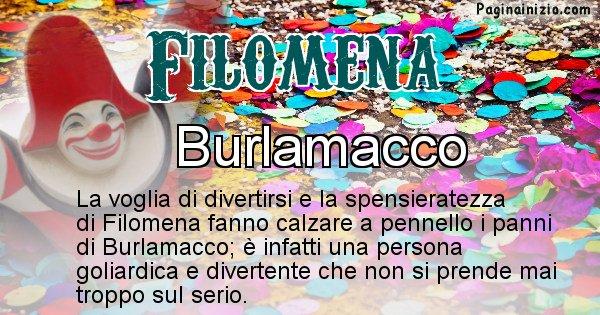 Filomena - Maschera associata al nome Filomena