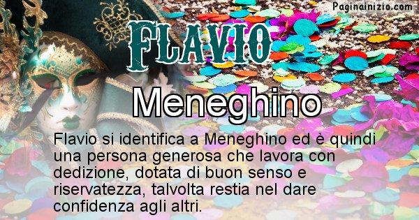 Flavio - Maschera associata al nome Flavio