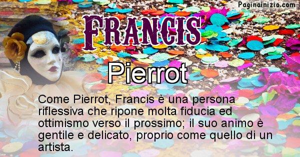 Francis - Maschera associata al nome Francis