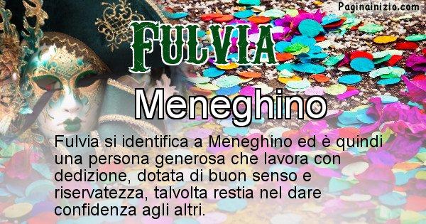 Fulvia - Maschera associata al nome Fulvia