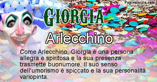 Giorgia - Maschera associata al nome Giorgia