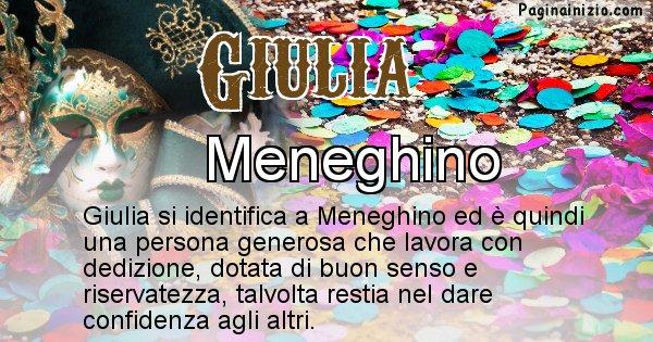 Giulia - Maschera associata al nome Giulia