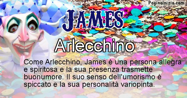 James - Maschera associata al nome James