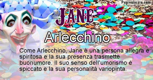 Jane - Maschera associata al nome Jane