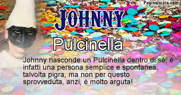 Johnny - Maschera associata al nome Johnny