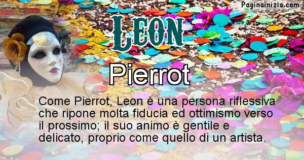 Leon - Maschera associata al nome Leon