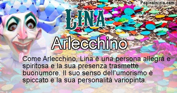 Lina - Maschera associata al nome Lina