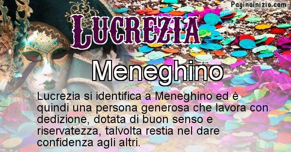 Lucrezia - Maschera associata al nome Lucrezia