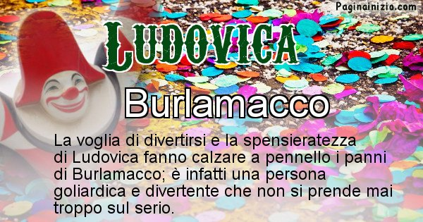 Ludovica - Maschera associata al nome Ludovica