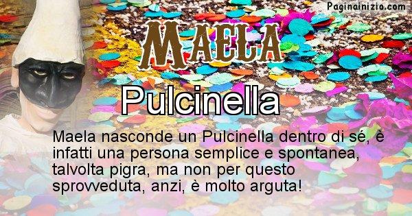 Maela - Maschera associata al nome Maela