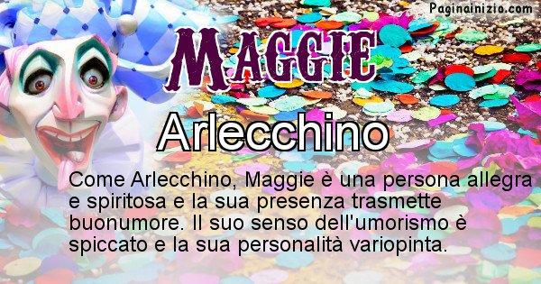 Maggie - Maschera associata al nome Maggie