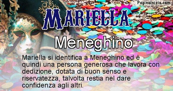 Mariella - Maschera associata al nome Mariella