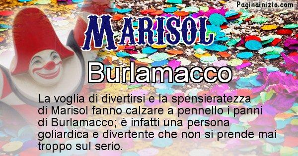 Marisol - Maschera associata al nome Marisol