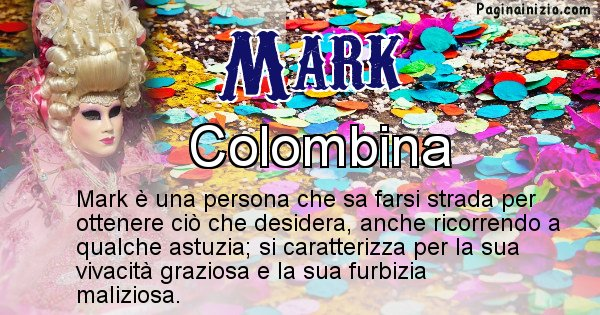 Mark - Maschera associata al nome Mark