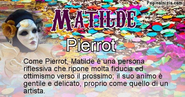 Matilde - Maschera associata al nome Matilde