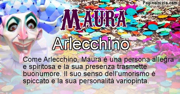 Maura - Maschera associata al nome Maura