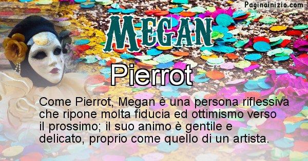 Megan - Maschera associata al nome Megan