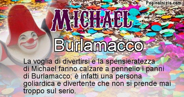Michael - Maschera associata al nome Michael