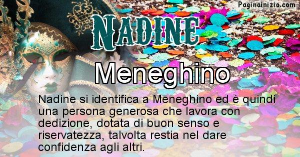 Nadine - Maschera associata al nome Nadine