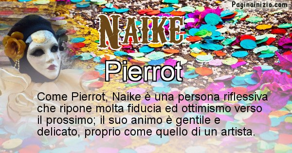 Naike - Maschera associata al nome Naike