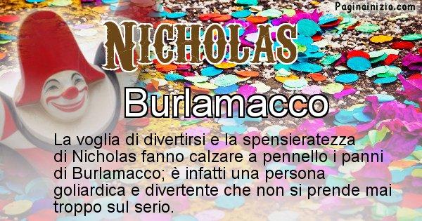 Nicholas - Maschera associata al nome Nicholas
