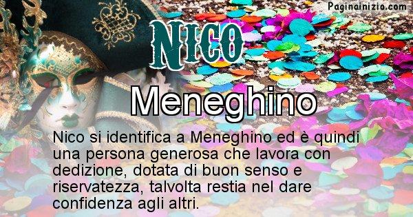 Nico - Maschera associata al nome Nico