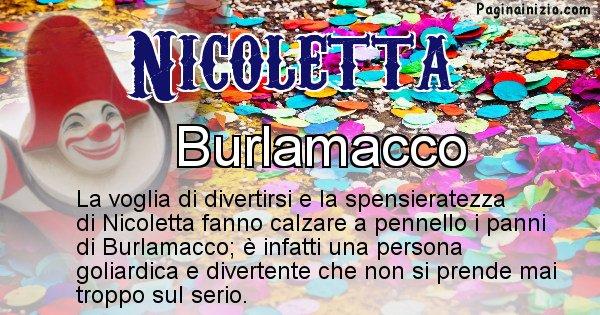 Nicoletta - Maschera associata al nome Nicoletta