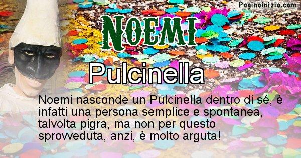 Noemi - Maschera associata al nome Noemi