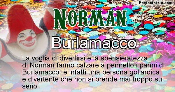Norman - Maschera associata al nome Norman