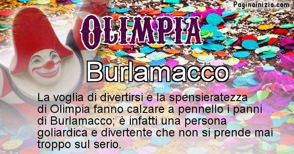 Olimpia - Maschera associata al nome Olimpia