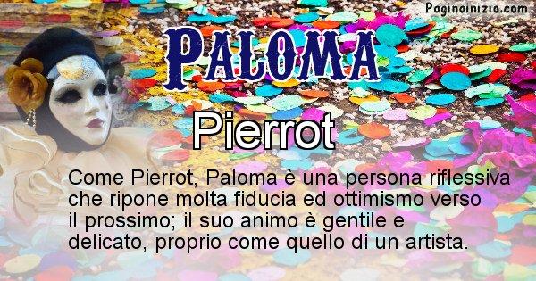 Paloma - Maschera associata al nome Paloma